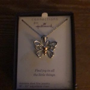 Hallmark butterfly necklace